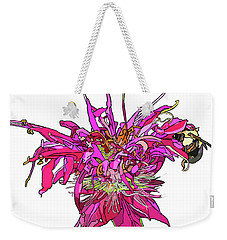Bee Balm Weekender Tote Bag by Jamie Downs