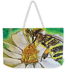 Bee Collecting Nectar And Pollen Weekender Tote Bag