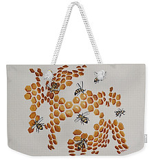 Weekender Tote Bag featuring the painting Bee Hive # 2 by Katherine Young-Beck