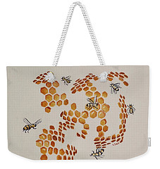 Bee Hive # 3 Weekender Tote Bag by Katherine Young-Beck