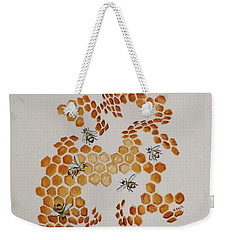 Weekender Tote Bag featuring the painting Bee Hive # 5 by Katherine Young-Beck