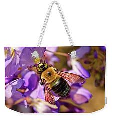 Bee In Spring Weekender Tote Bag