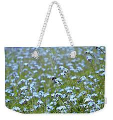 Bee In The Midst Of Blue Weekender Tote Bag