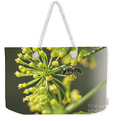 Weekender Tote Bag featuring the photograph Bee by Jivko Nakev
