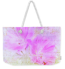 Weekender Tote Bag featuring the photograph Bee Kind by Kathi Mirto