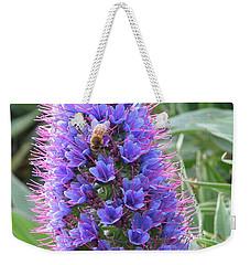 Bee On Blue Weekender Tote Bag
