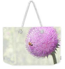 Bee On Giant Thistle Weekender Tote Bag