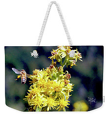 Bee On Goldenrod Weekender Tote Bag