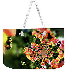 Bee On Snapdragon Flower Abstract Weekender Tote Bag