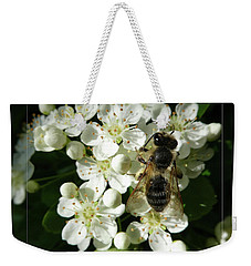 Bee On White Flowers 2 Weekender Tote Bag