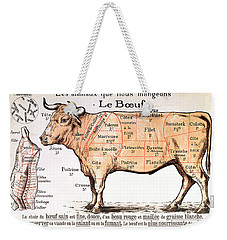Beef Weekender Tote Bag by French School