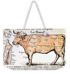 Beef Weekender Tote Bag by French School