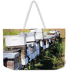 Weekender Tote Bag featuring the photograph Beehives II by Beth Vincent