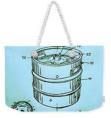 Beer Keg 1994 Patent - Blue Weekender Tote Bag by Scott D Van Osdol