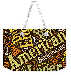 Beer Lover Cell Case Weekender Tote Bag by Edward Fielding