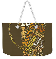 Beer Lovers Tee Weekender Tote Bag