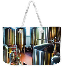 Weekender Tote Bag featuring the photograph Beer Vats by Linda Unger