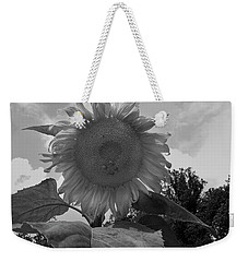 Weekender Tote Bag featuring the digital art Bees On A Sunflower by Chris Flees