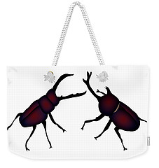 Beetle And Stag Beetle Weekender Tote Bag