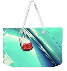Weekender Tote Bag featuring the photograph Beetle Blue by Rebecca Harman