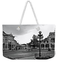 Before The Gates Open Black And White Magic Kingdom Walt Disney World Mp Weekender Tote Bag