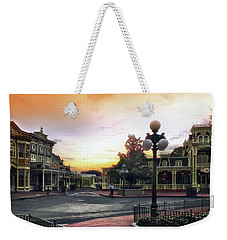 Before The Gates Open Magic Kingdom Walt Disney World Mp Weekender Tote Bag