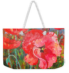 Weekender Tote Bag featuring the painting Before The Storm by Nina Mitkova