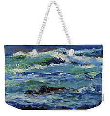 Weekender Tote Bag featuring the painting Beginning Of A Storm by Walter Fahmy