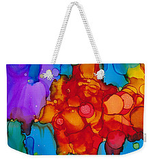 Weekender Tote Bag featuring the painting Beginnings Abstract by Nikki Marie Smith