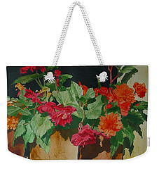 Begonias Flowers Colorful Original Painting Weekender Tote Bag