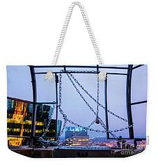 City Behind The Chains Weekender Tote Bag