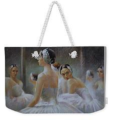 Behind The Scenes Weekender Tote Bag by Vali Irina Ciobanu