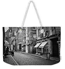 Weekender Tote Bag featuring the photograph Behind The Walls 01 by Elf Evans