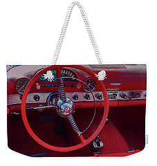 Behind The Wheel 55 Ford Thunderbird Weekender Tote Bag
