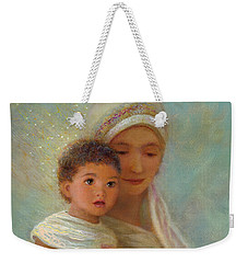 Weekender Tote Bag featuring the painting Behold The Light by Nancy Lee Moran