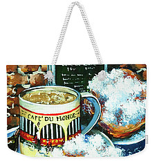 Beignets And Cafe Au Lait Weekender Tote Bag