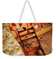Beirut Graffiti With A Lonely Chair  Weekender Tote Bag by Funkpix Photo Hunter