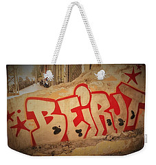 Beirut On A Graffiti Wall Weekender Tote Bag by Funkpix Photo Hunter