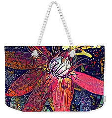 Weekender Tote Bag featuring the photograph Bejeweled Passion by Geri Glavis