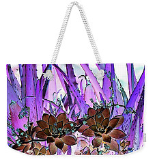 Weekender Tote Bag featuring the photograph Bejeweled Succulents by Ellen O'Reilly