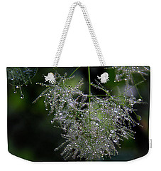 Weekender Tote Bag featuring the photograph Bejewelled Smoke by Michael Friedman