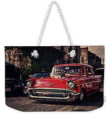 Weekender Tote Bag featuring the photograph Bel Air Hotrod by Joel Witmeyer
