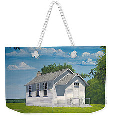 Weekender Tote Bag featuring the painting Belding School by Norm Starks