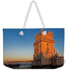 Belem Tower And The Moon Weekender Tote Bag