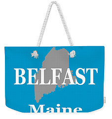 Weekender Tote Bag featuring the photograph Belfast Maine State City And Town Pride  by Keith Webber Jr