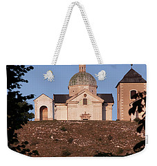 Weekender Tote Bag featuring the photograph Belfry And Chapel Of Saint Sebastian by Michal Boubin