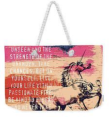 Believe In The Power Of The Unseen Weekender Tote Bag by Brandi Fitzgerald