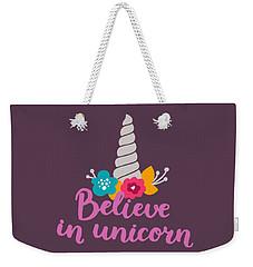 Believe In Unicorn Weekender Tote Bag