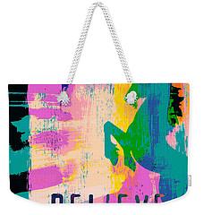 Believe In Unicorns Weekender Tote Bag by Brandi Fitzgerald