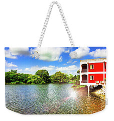Belize River House Reflection Weekender Tote Bag